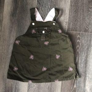 Green & Pink Flower Dress